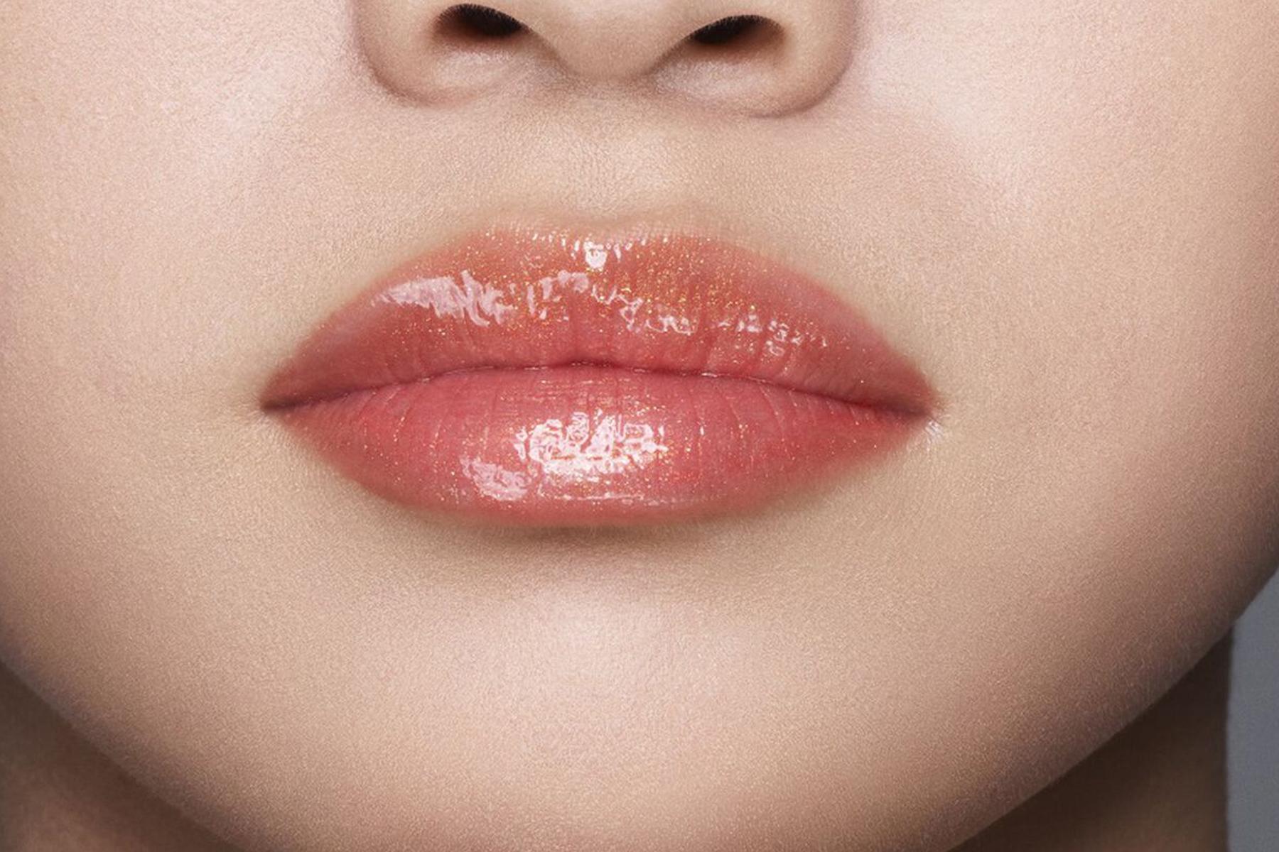 Shiseido Gloss Gel Lumiere swatch daidai orange