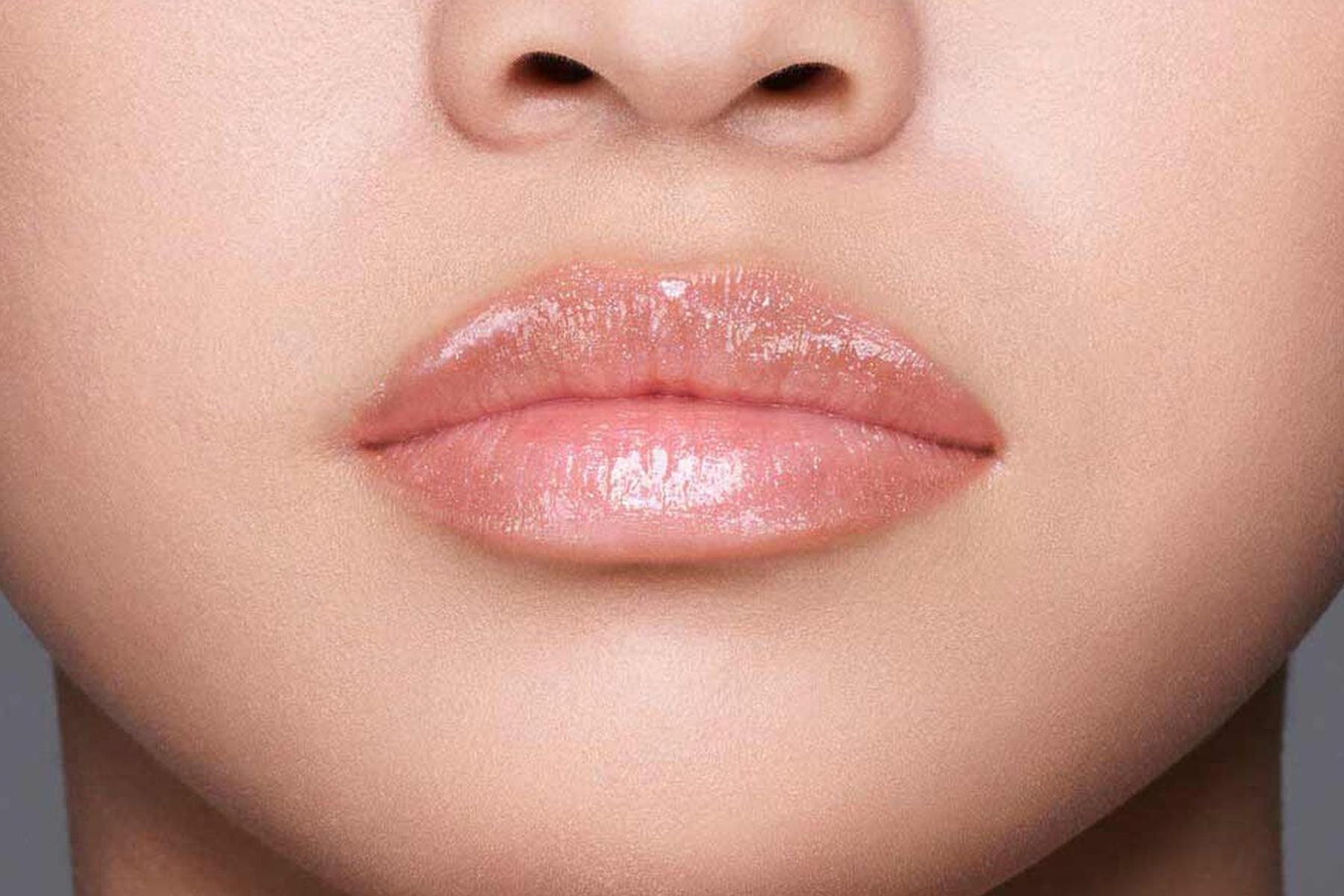 Shiseido Gloss Gel Lumiere swatch toki nude
