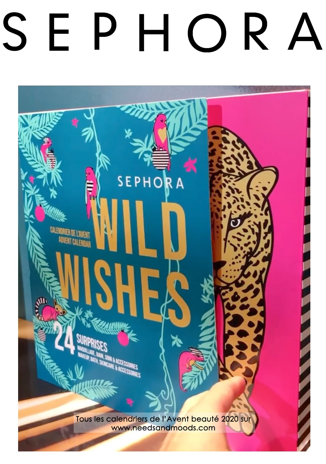 calendrier avent sephora 2020 wild wishes