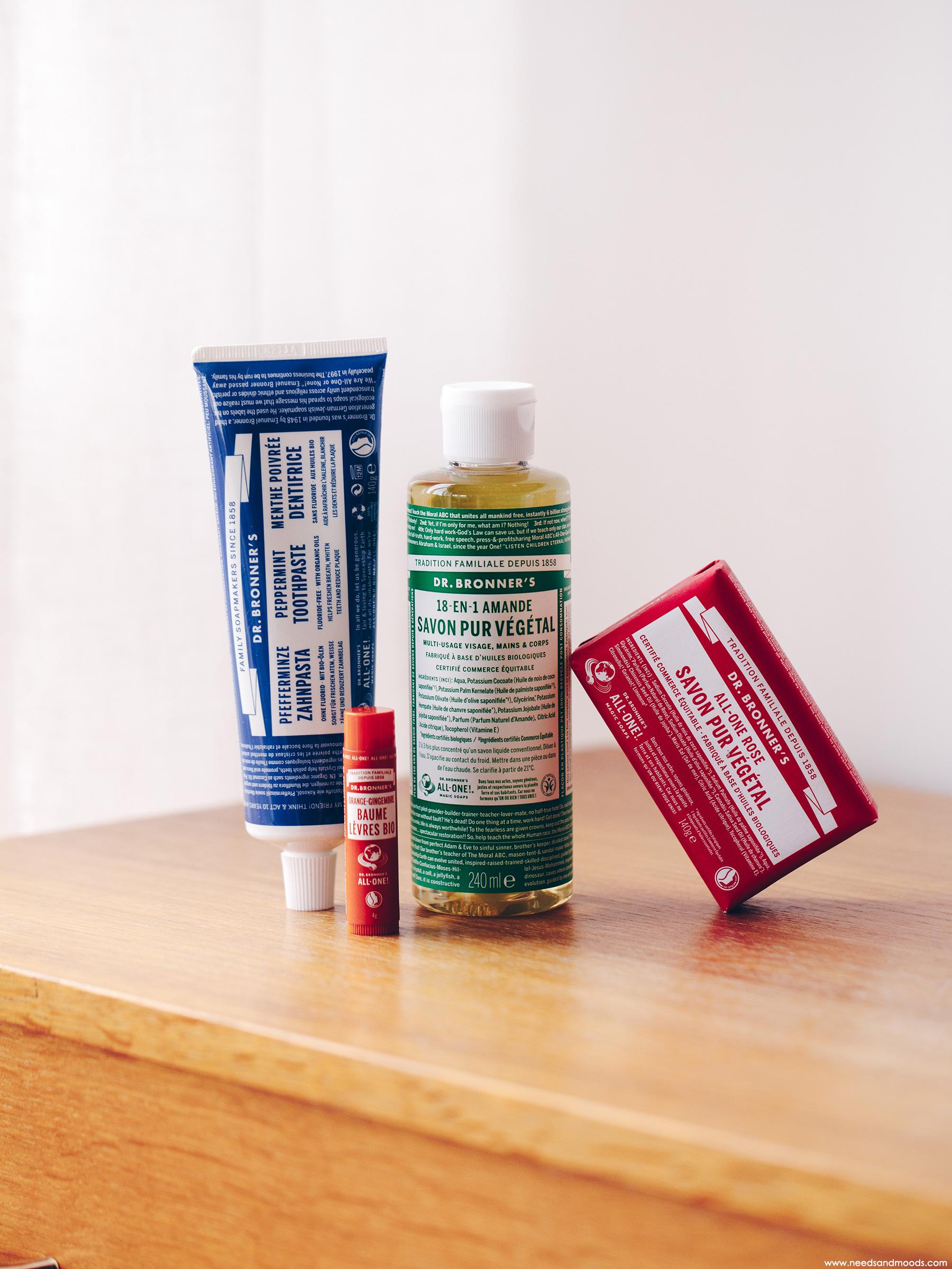 dr bronners avis savon solide liquide dentifrice