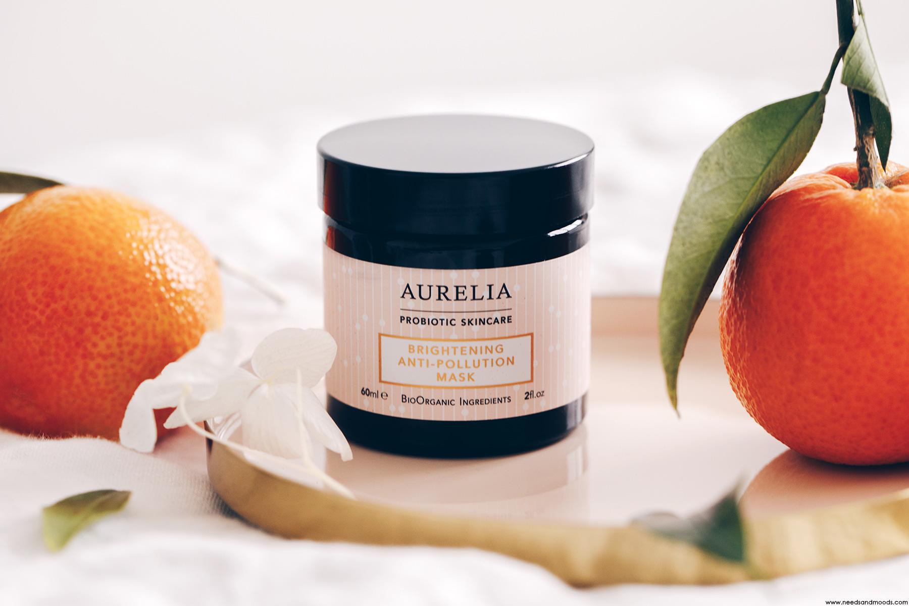 brightening anti-pollution mask aurelia probiotic test avis