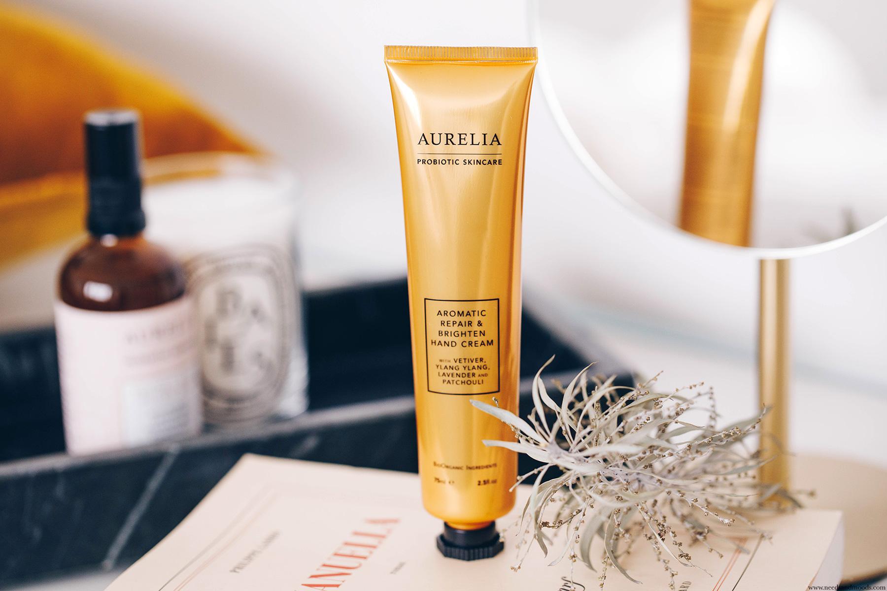 aurelia probiotic aromatic repair brighten hand cream