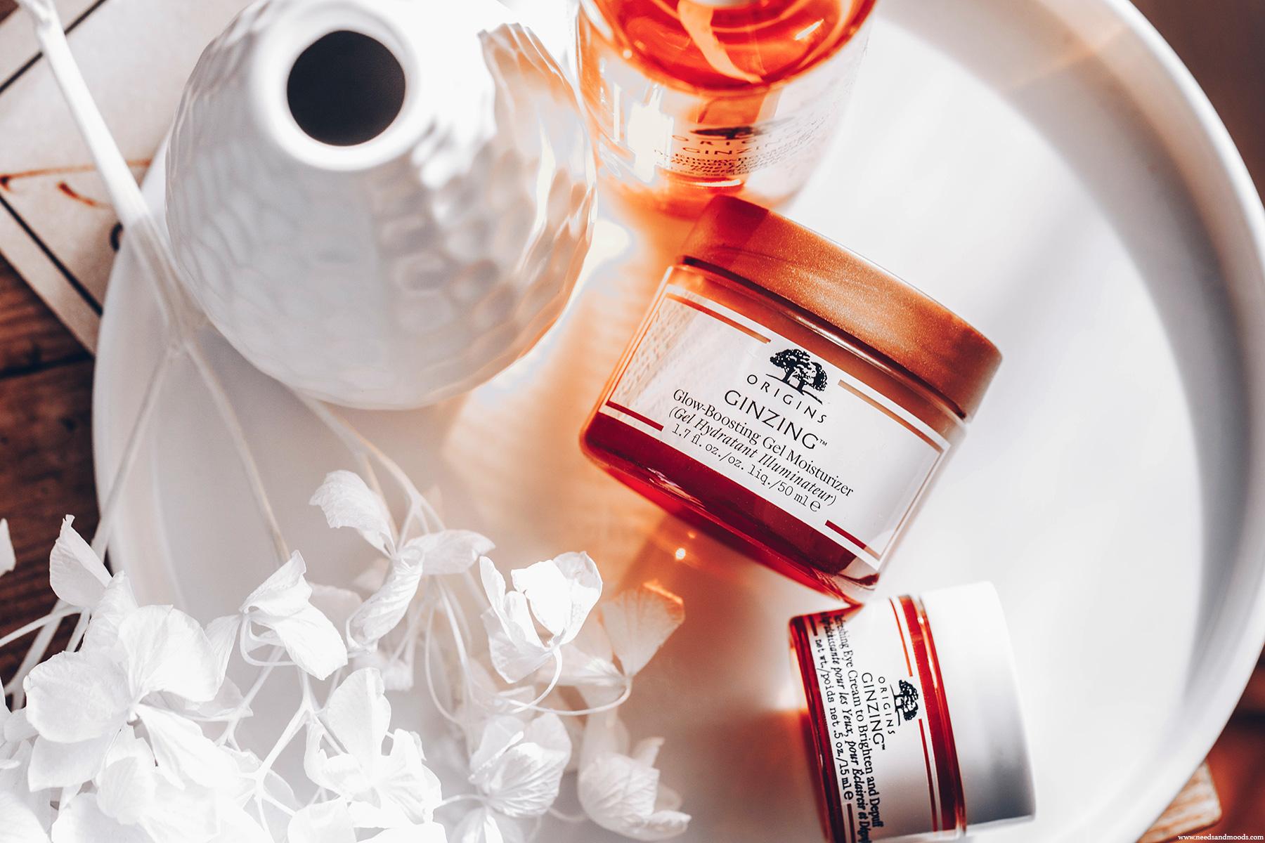 origins ginzing glow boosting gel moisturizer avis